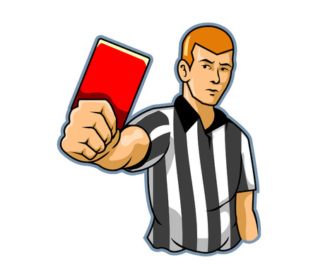 picking up: Black White Referee Illustration