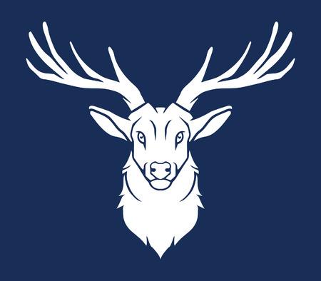 moose hunting: Deer Head Silhouette