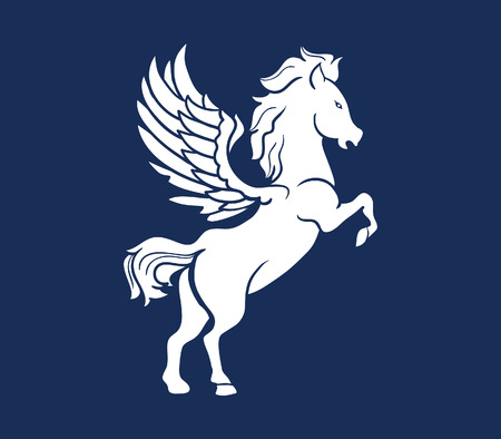 fictional character: A vector illustration of Pegasus silhouette