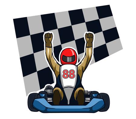 thoroughfare: Gokart Winning Racer