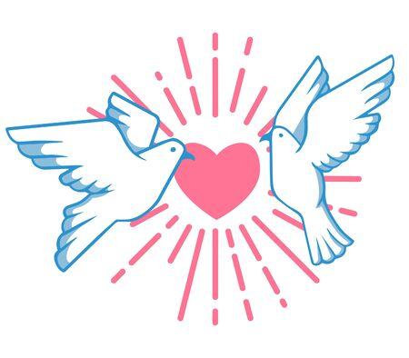 Pigeon And Love Burst