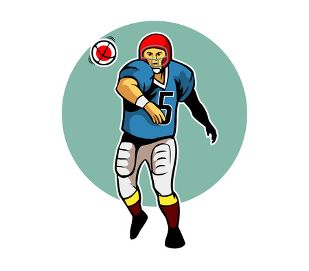 throwing: Throwing Ball Pose Illustration