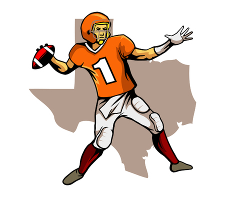 Devil Quarterback Illustration