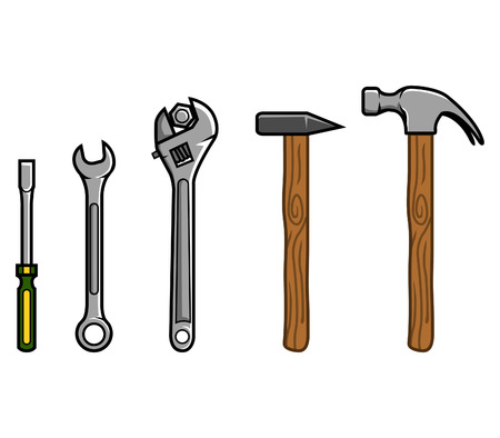 Vector illustration of Repair Tools Illustration