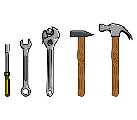 Repair tools. Illustration