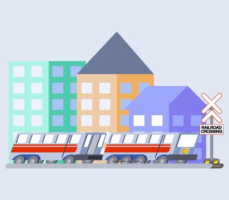 A vector illustration of train flat skew icon. Illustration