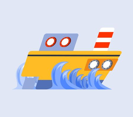 ship flat skew icon