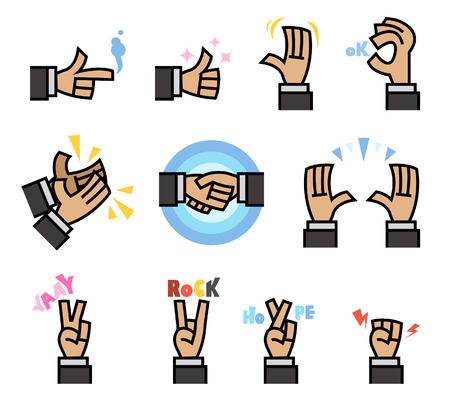 Vector illustration of flat cartoon hand gesture Stock Vector - 92032941