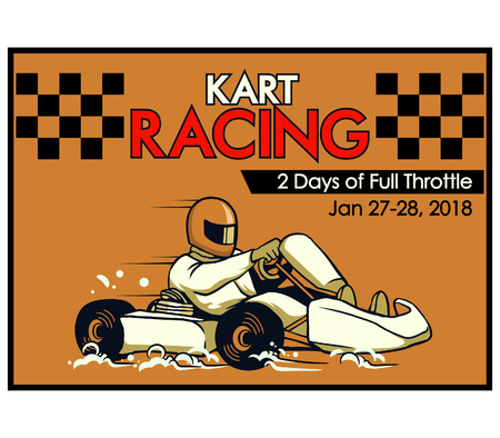 Vector illustration design for go kart poster