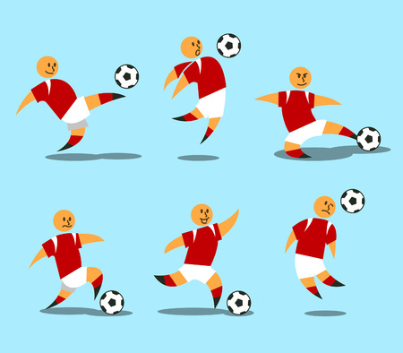 Figurative character of soccer player. Stock Illustratie
