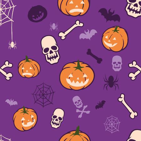 Vector seamless pattern of Halloween theme.