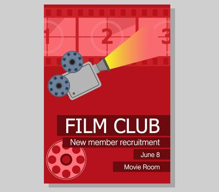 Poster design for new member recruitmen of film club.