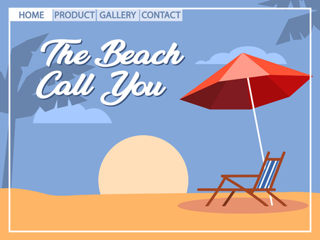 Beach holiday pop art style for homepage design. Artboard using 800x600 pixel.