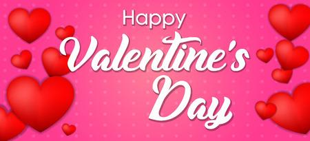 Valentine day greetings banner . Ilustração