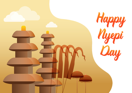 """녜삐는 발리 달력에 따라 매년 새해를 기념하는 발리의 """"침묵의 날""""입니다."""