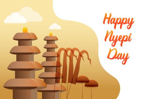 """Nyepi è un """"Giorno del silenzio"""" balinese che viene commemorato ogni nuovo anno secondo il calendario balinese."""