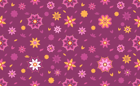 Decorative lotus flower seamless pattern. Suitable for background.