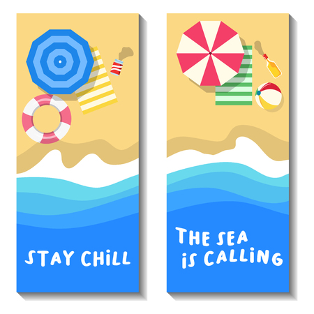Portrait banner for beach vacation.