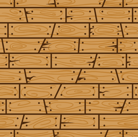 Brown wood wall cartoon seamless pattern. Suitable for background, game tilemap asset and many more. Ilustração