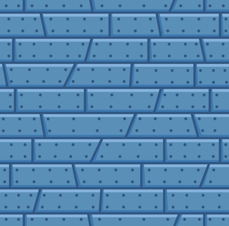 Blue steel wall cartoon seamless pattern. Suitable for background, game tilemap asset and many more.