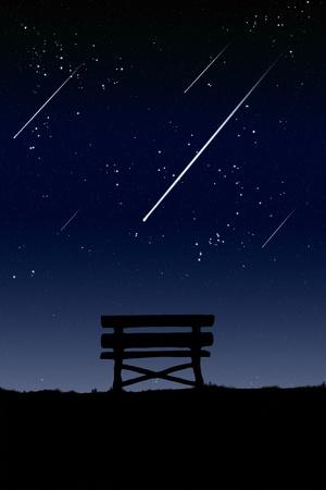 meteor: Lage Meteor Uhr in der Nacht.