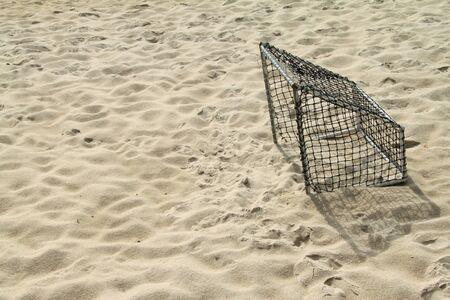Soccer Goal on Beach.