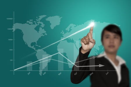 increase business: Shows the progress of the business. Stock Photo