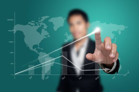 Shows the progress of the business. Stock Photo