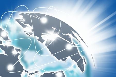 Internet Konzept des globalen Business.