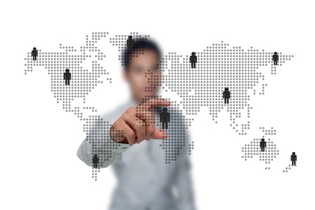 The social networks of business people. Stock Photo