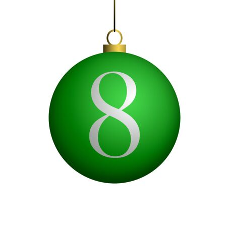Number 8 from cristmas ball alphabet. photo