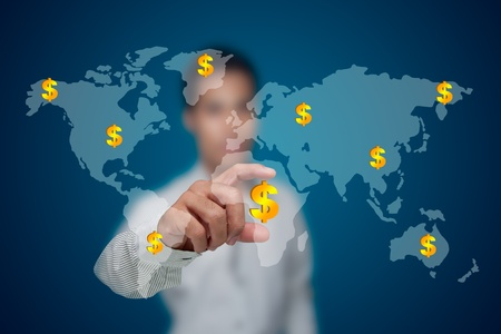 Business with the bracelets from all over the world. Stock Photo