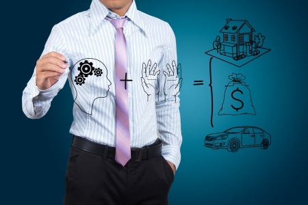 Businessman drawing success in a whiteboard. Stock Photo - 16207216