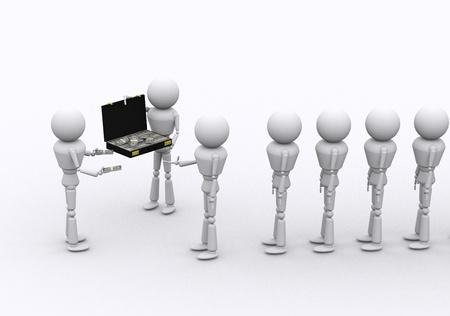 dispense: Personas Concepto 3D dispensar dinero para corromper. Foto de archivo