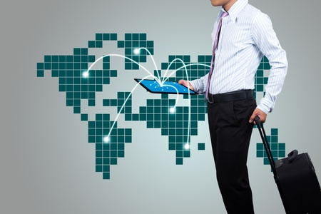 Business people to travel around the world.