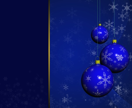 Christmas balls on abstract background. photo
