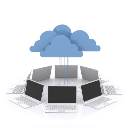 3d Concepts cloud computing devices. photo