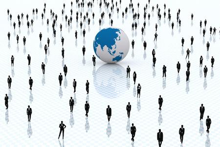 business: 3D. Concetto per quanto riguarda affari e mondo globalizzato.