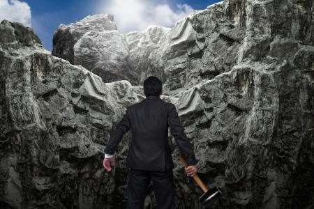 개념 사업. 사업가의 용기. 스톡 콘텐츠