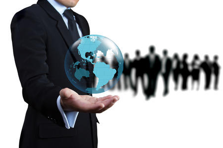 Business people who want to join the team. Stock Photo