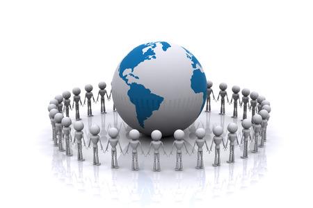 Partners around the world on a white background. Reklamní fotografie - 23236446