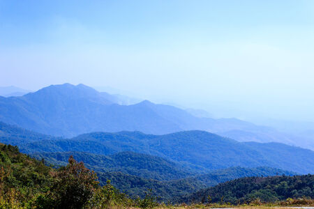 mountain in north thailand photo