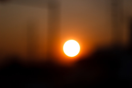 sunset bokeh photo