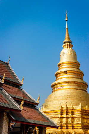 Hariphunchai temple in Lamphun is renowned in Thailand  photo