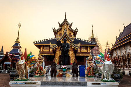 Ban Den Temple in northern of thailand photo