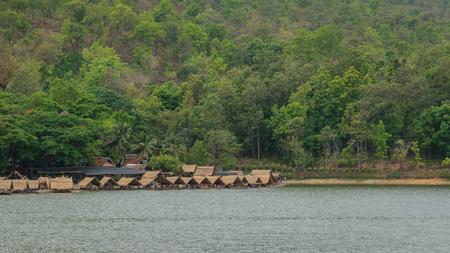 raft: The raft in Huay tung tao lake.
