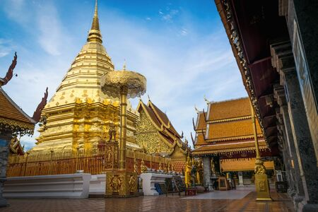buddhist temple: Doi Suthep temple at Chiang Mai, Thailand