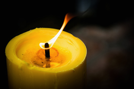 candle flame: Candle flame with close-up Stock Photo