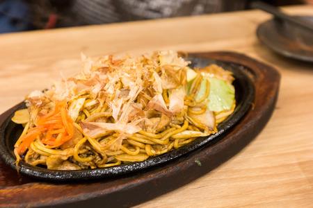 Japanese cuisine Yakisoba, Japanese fried noodle Stock Photo