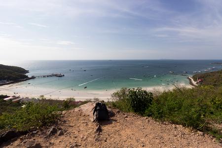 Koh Larn island tropical beach most famous of Pattaya city, Thailand